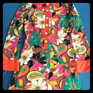 70's Floral Go-Go Style dress (costume)